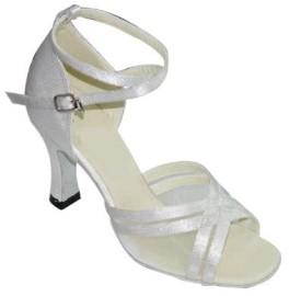 Annabelle - White Satin - Latin or Ballroom Dance Shoe