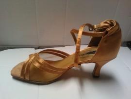 Heather Dark Tan - Latin or Ballroom Dance Shoe