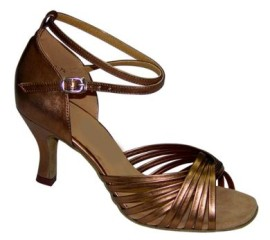 Jodi - Bronze - Latin or Ballroom Dance Shoe