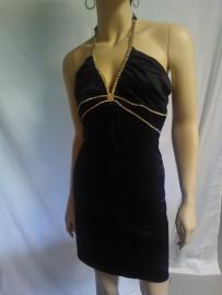 Black Mini Dress with Rhinestones