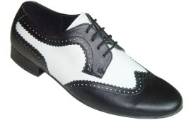 Tom - Black and White - WIDE - Ballroom Dance Shoe