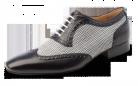 Mambo Black & White Ballroom Dance Shoe