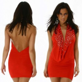 Red Sequin Drop Front Top or Mini Dress