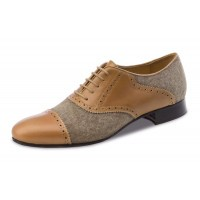 Tadil Brown Leather Ballroom Dance Shoe